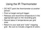 using the ir thermometer
