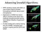 advancing snowfall algorithms