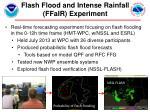 flash flood and intense rainfall ffair experiment