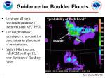guidance for boulder floods