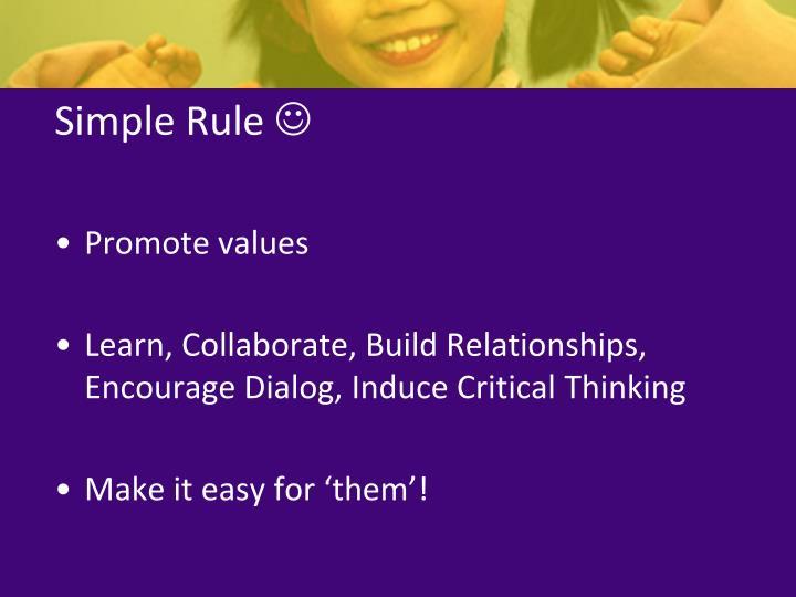 Simple Rule