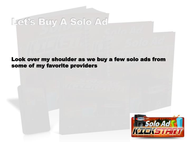 Let's Buy A Solo Ad