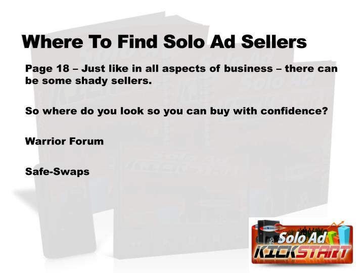 Where To Find Solo Ad Sellers