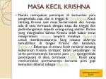 masa kecil krishna