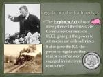 regulating the railroads1
