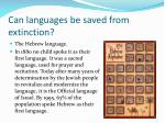 can languages be saved from extinction