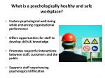 what is a psychologically healthy and safe workplace