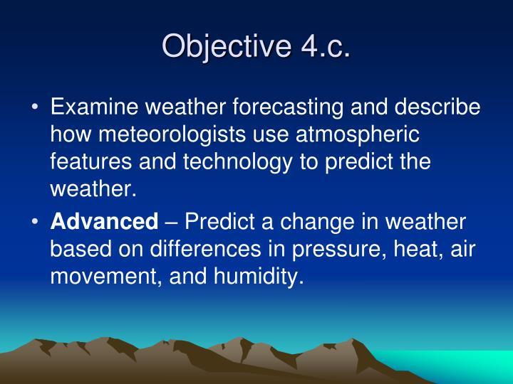 Objective 4.c.