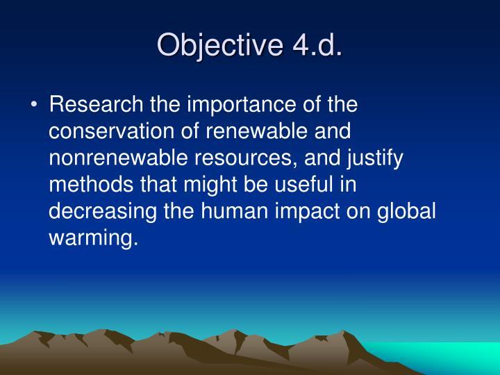 Objective 4.d.