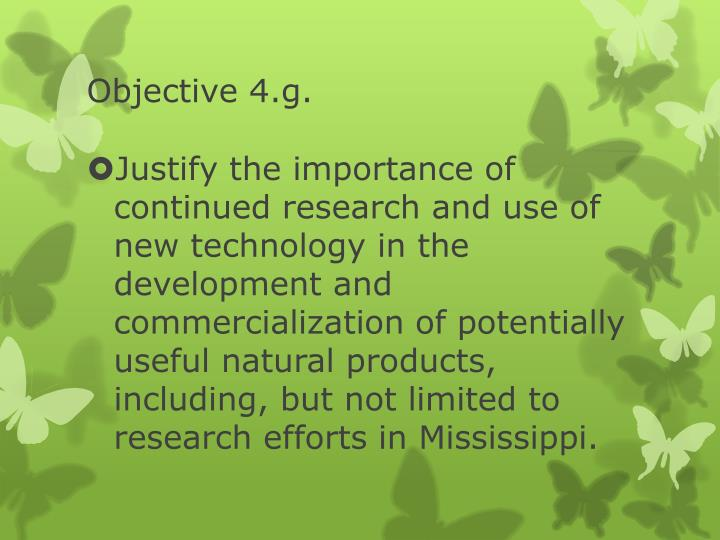 Objective 4.g.