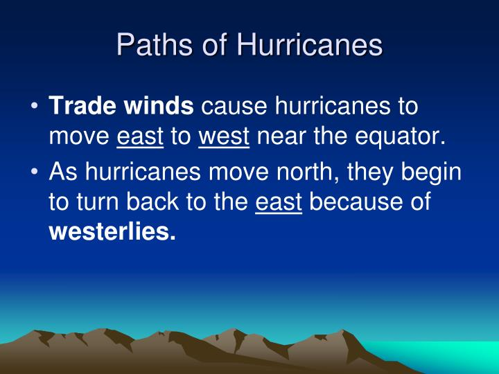Paths of Hurricanes