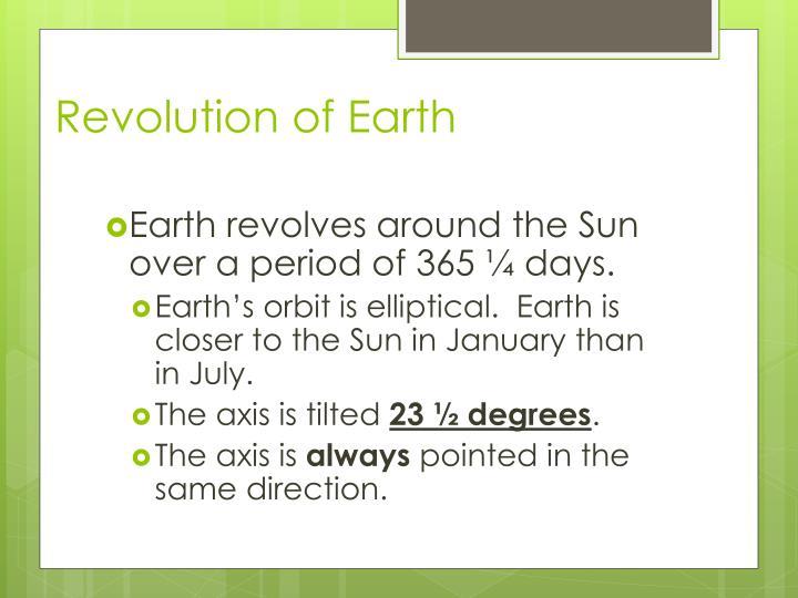 Revolution of Earth