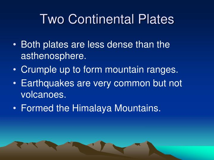 Two Continental Plates