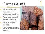 rocas gneas