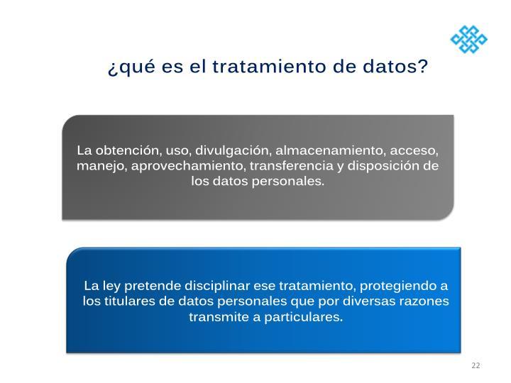 ¿qué es el tratamiento de datos?