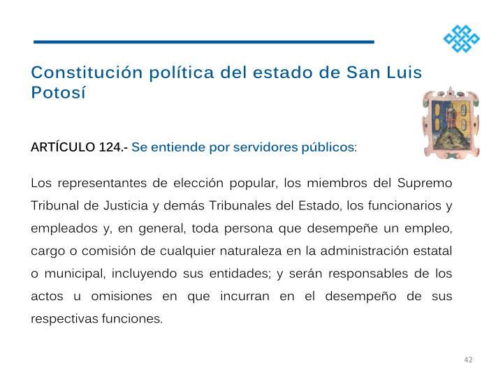 Constitución política del estado de San Luis Potosí