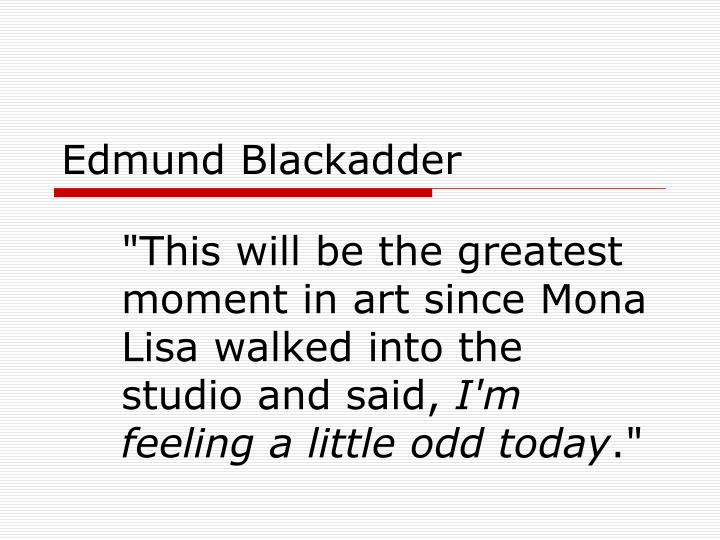 edmund blackadder n.
