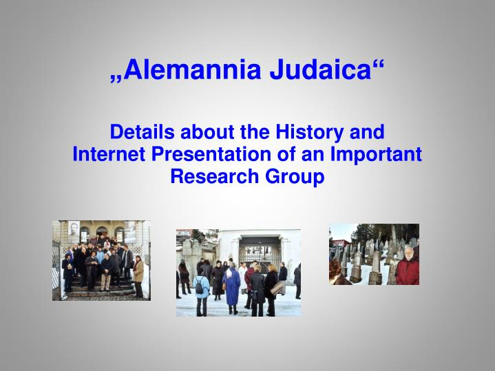 details about the history and internet presentation of an important research group n.