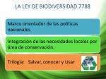 la ley de biodiversidad 7788