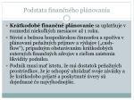 podstata finan n ho pl novania4
