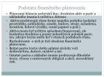 podstata finan n ho pl novania6