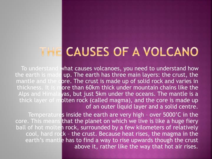 the causes of a volcano n.