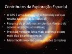 contributos da explora o espacial