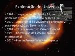 explora o do universo