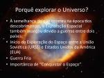porqu explorar o universo1