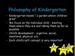 philosophy of kindergarten