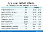 effects of biofuel policies 2017 21 average of 500 stochastic outcomes