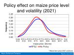 policy effect on maize price level and volatility 2021
