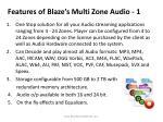features of blaze s multi zone audio 1