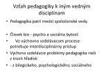 vz ah pedagogiky k in m vedn m discipl nam