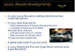 2010s recent developments