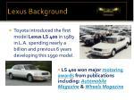 lexus background