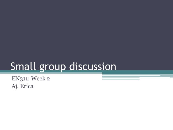 small group discussion n.