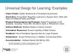 universal design for learning examples
