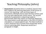 teaching philosophy johns1