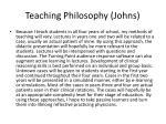 teaching philosophy johns3