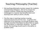 teaching philosophy trachte