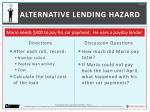 alternative lending hazard