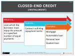 closed end credit installment
