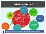credit sources