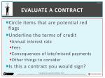 evaluate a contract