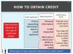 how to obtain credit