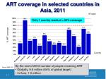 art coverage in selected countries in asia 2011