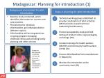 madagascar planning for i ntroduction 1