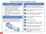 nepal achieving coverage at scale