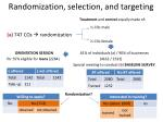 randomization selection and targeting